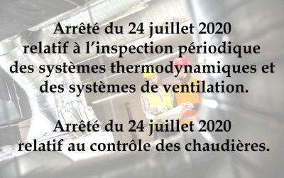 Inspection périodique des systèmes thermodynamiques et systèmes de ventilations