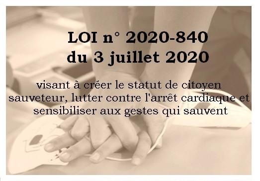 Statut « Citoyen Sauveteur » adopté.