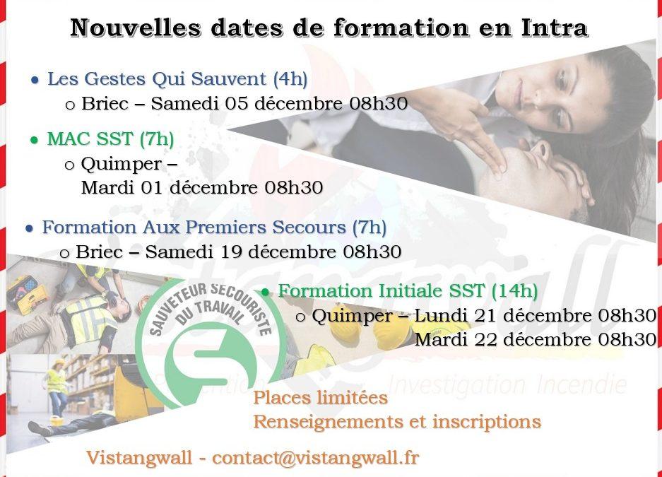 Nouvelles dates de formation en Intra